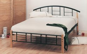 The Elan Neon Wooden Metal Bestead Mattress Online